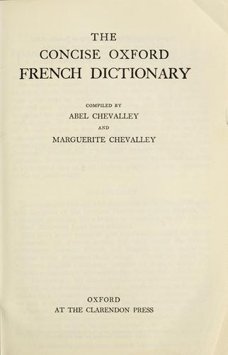 The concise Oxford French dictionary