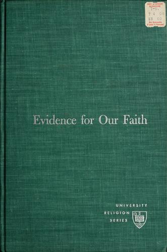 Evidence for our faith.