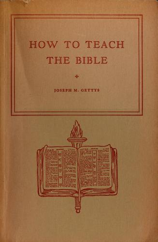 Download How to teach the Bible.