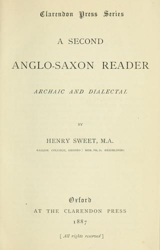 Download A second Anglo-Saxon reader