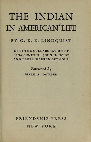 The Indian in American life