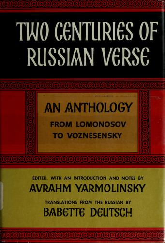 Download Two centuries of Russian verse.