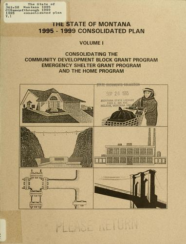 The State of Montana 1995 through 1999 consolidated plan by Western Economic Services