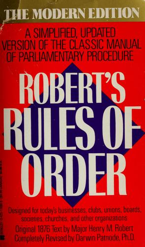 Robert's Rules of order.