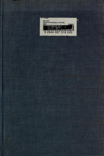 Download Europe of the dictators, 1919-1945.