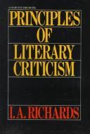 Principles of literary criticism.