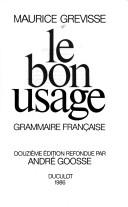 Download Le bon usage