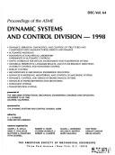 Download Proceedings of the Asme Dynamic Systems and Control Division