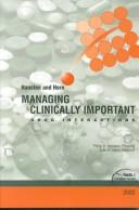Download Managing clinically important drug interactions