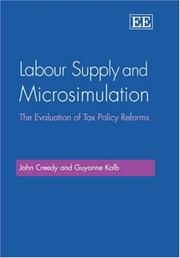 Labour Supply And Microsimulation: The Evaluation Of Tax Policy Reforms PDF Download