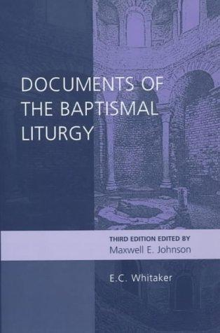 Download Documents of the Baptismal Liturgy