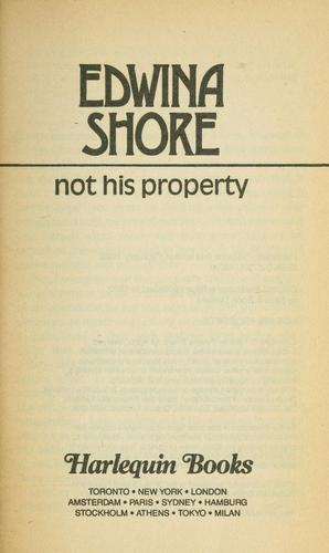 Not His Property