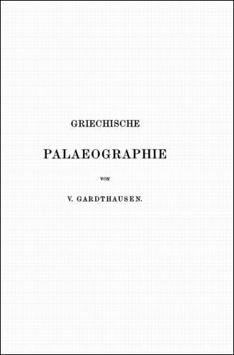 Download Griechische Palaeographie