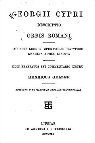 Georgii Cyprii descriptio orbis Romani by Georgius of Cyprus, Heinrich Karl Guido Gelzer
