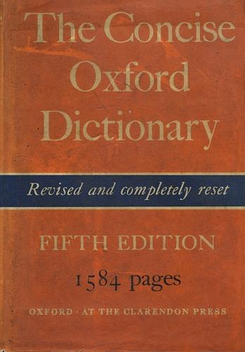 Download The concise Oxford dictionary of current English