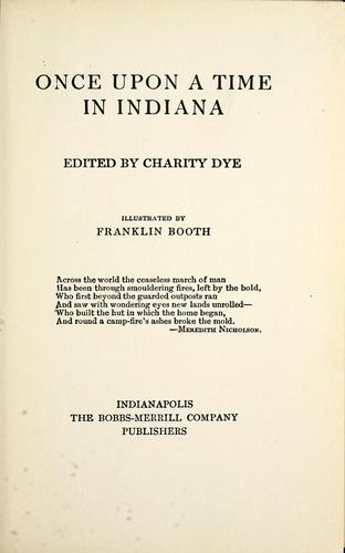 Once upon a time in Indiana by Charity Dye