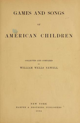 Download Games and songs of American children