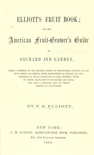 Elliott's fruit book