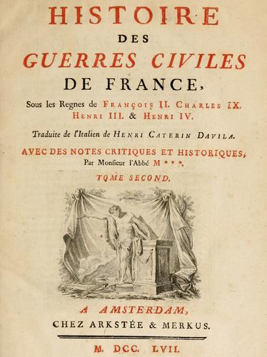 Download Histoire des guerres civiles de France