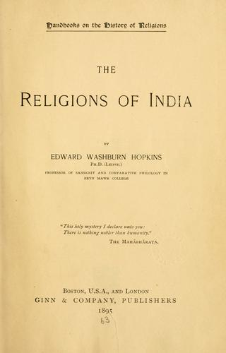Download The religions of India.