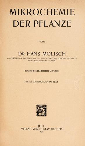 Download Mikrochemie der Pflanze.