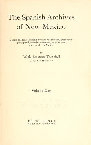 Download The Spanish archives of New Mexico
