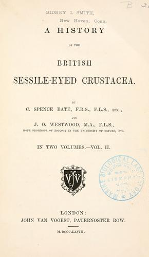 A history of the British sessile-eyed Crustacea.