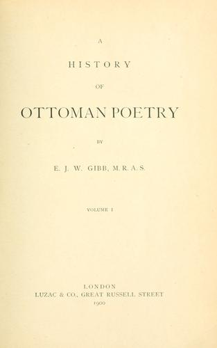 Download A history of Ottoman poetry.