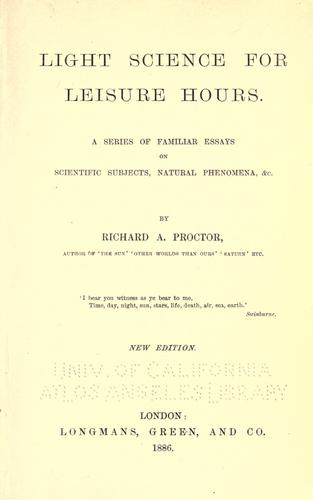 Light science for leisure hours