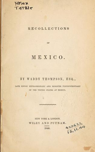 Recollections of Mexico.