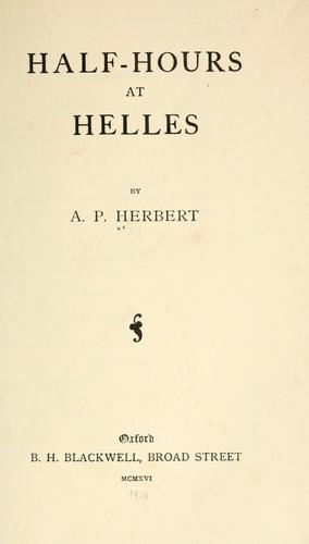 Half-hours at Helles