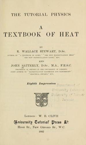 A textbook of heat