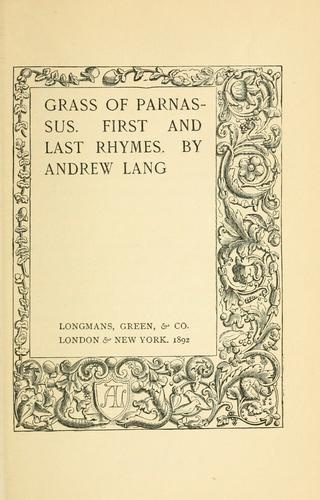 Download Grass of Parnassus.