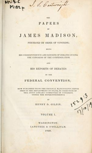 Papers by James Madison