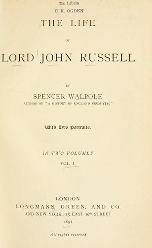 The life of Lord John Russell