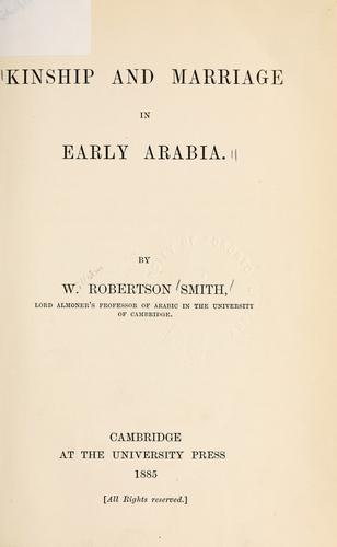 Download Kinship and marriage in early Arabia.