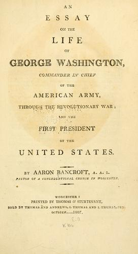Download An essay on the life of George Washington