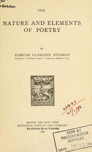Download The nature and elements of poetry.