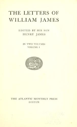 Download The letters of William James