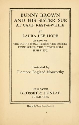 Download Bunny Brown and his sister Sue at Camp Rest-a-While