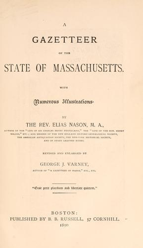 A gazetteer of the state of Massachusetts