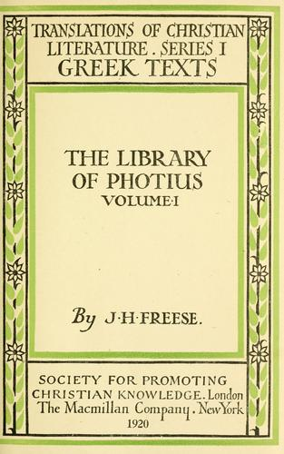 The library of Photius.