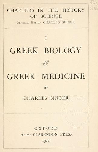 Greek biology and Greek medicine.
