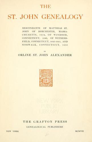 Download The St. John genealogy