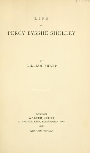Download Life of Percy Bysshe Shelley