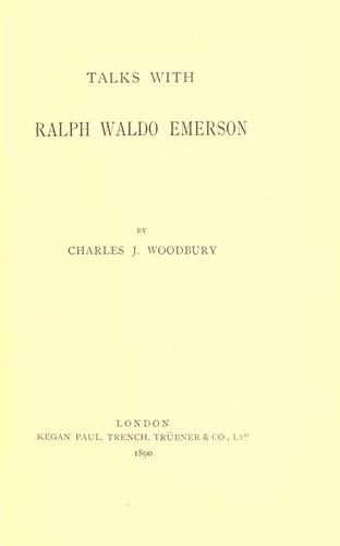 Download Talks with Ralph Waldo Emerson