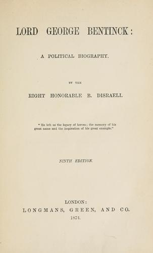 Download Lord George Bentinck