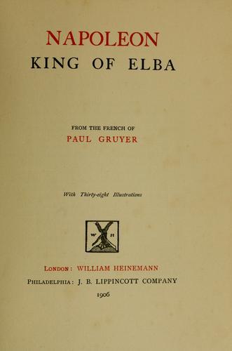 Download Napoleon, king of Elba