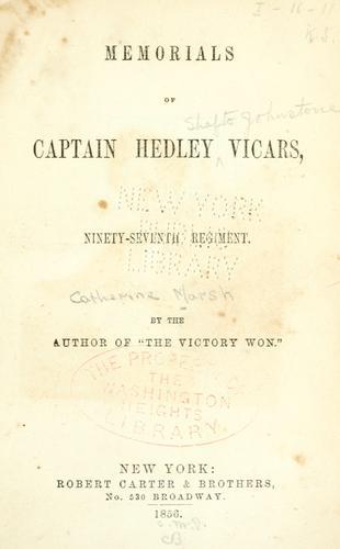 Download Memorials of Captain Hedley Vicars, Ninety-seventh regiment
