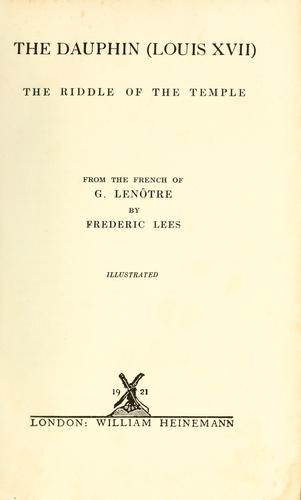 Download The Dauphin (Louis XVII)